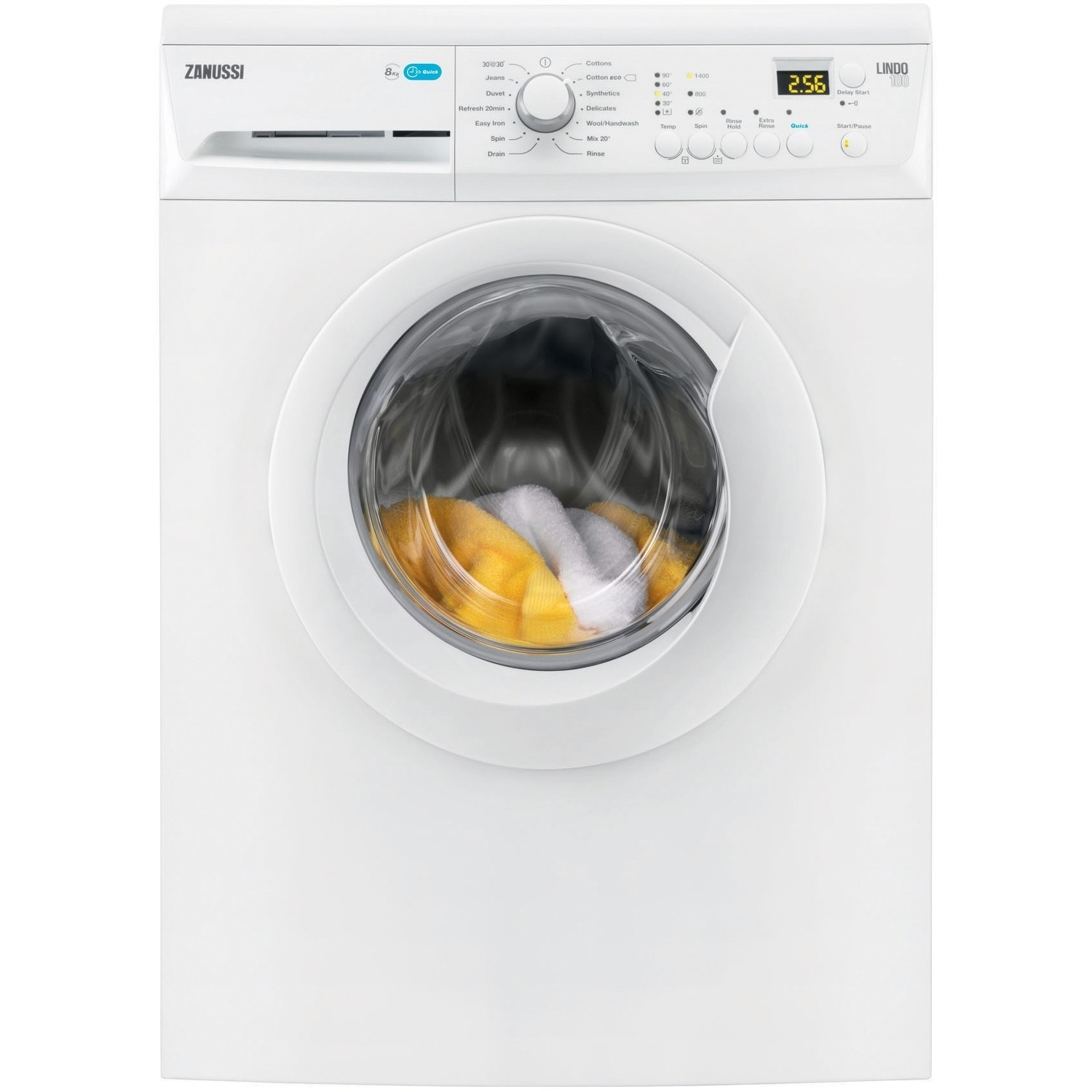 Zanussi 8kg 1400 Spin Washing Machine - White - A+++ Rated - 0