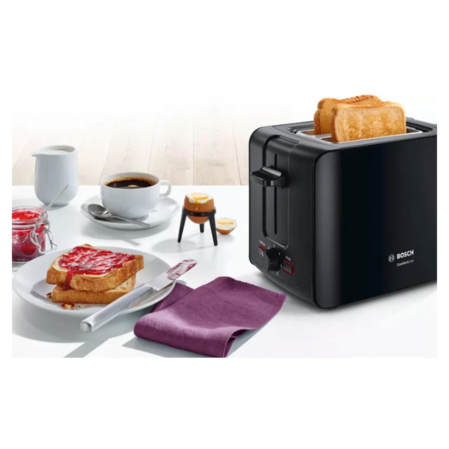 Bosch 2 Slice Toaster - Black - 3