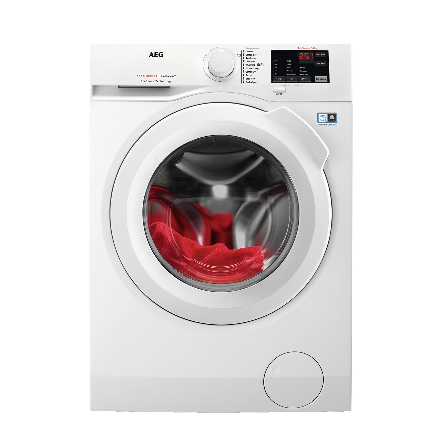 AEG 7kg 1400 Spin Washing Machine - White - A+++ Energy Rated - 0