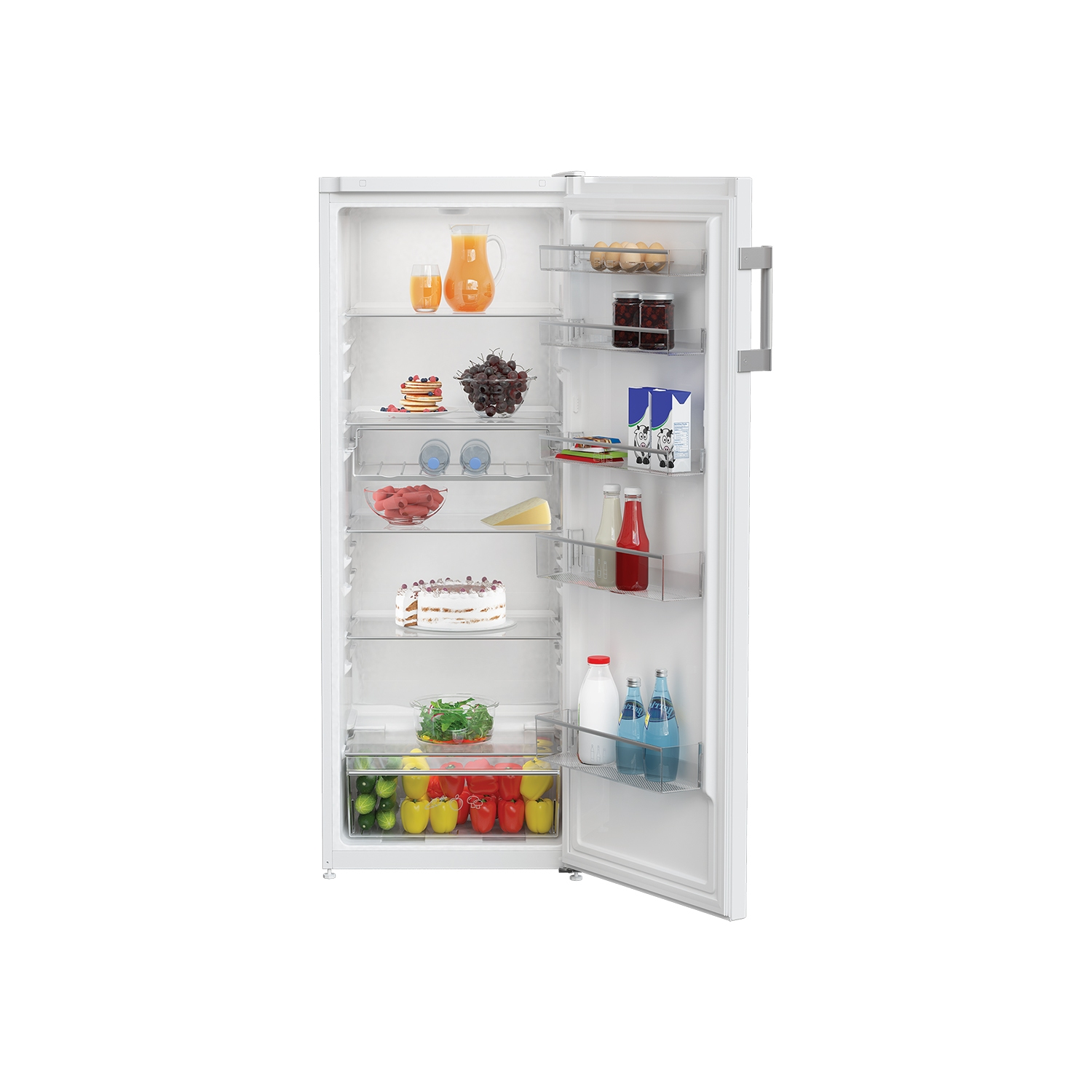 Blomberg SSM4543 54cm Tall Larder Fridge - White - 2