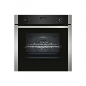 NEFF Electric CircoTherm® Single Oven - BLACK/STEEL - A Energy Rated