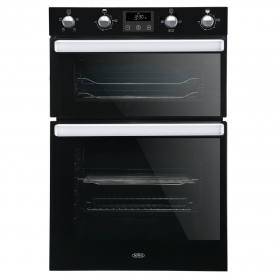 """Belling 444444786 Electric Equiflow™ Fan Oven Double Oven Oven - Black - A Energy Rated"