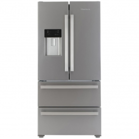 Blomberg Frost Free American Style Fridge Freezer - Stainless Steel - A+ Rated - 0