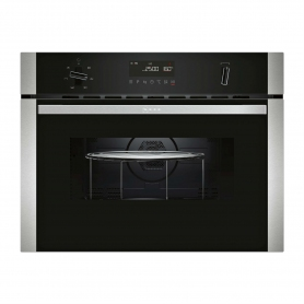 NEFF Electric Built-in Microwave with hot air function with 5 heating methods: Hot air grilling, Ful