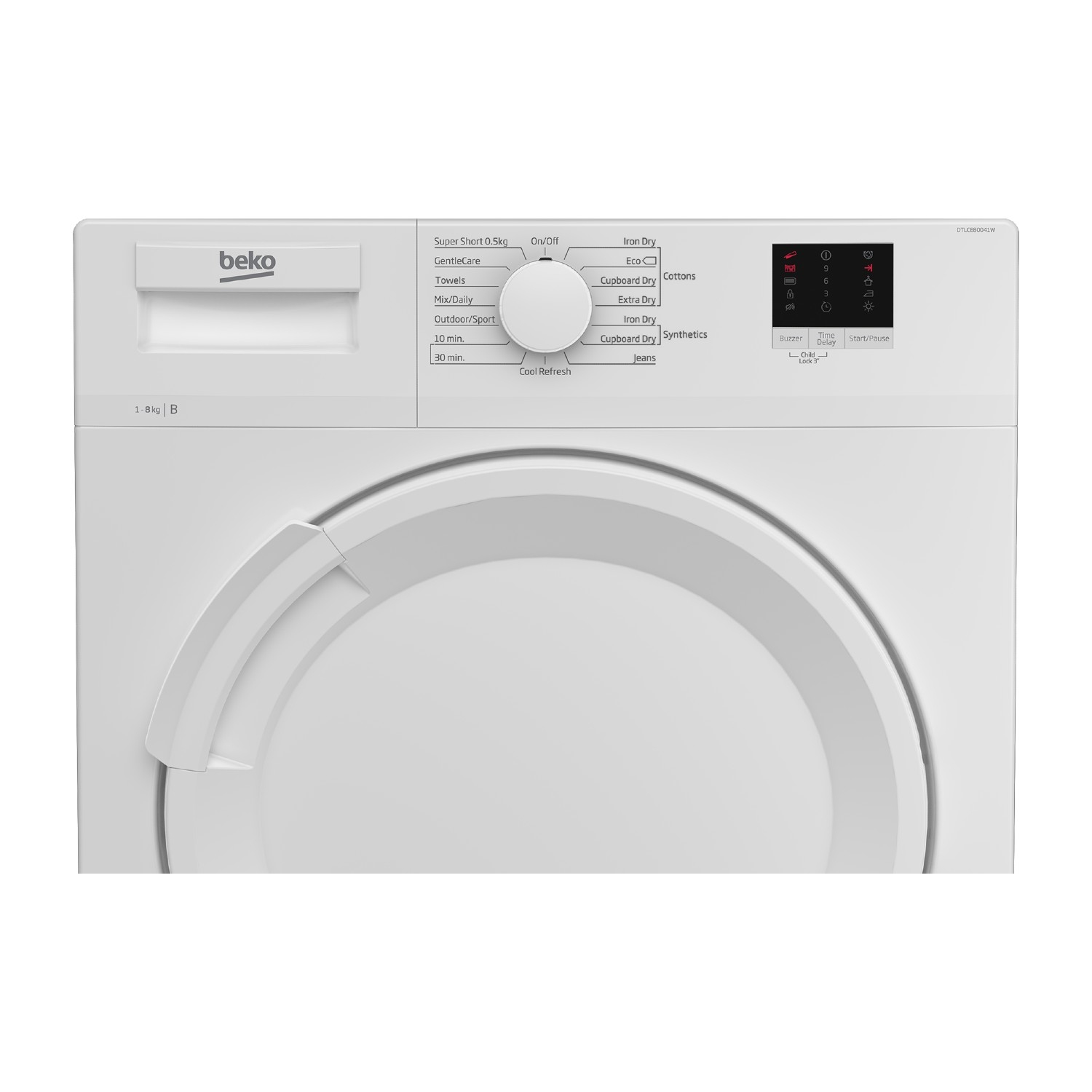 Beko DTLCE80041W 8kg Condenser Tumble Dryer - White - 3