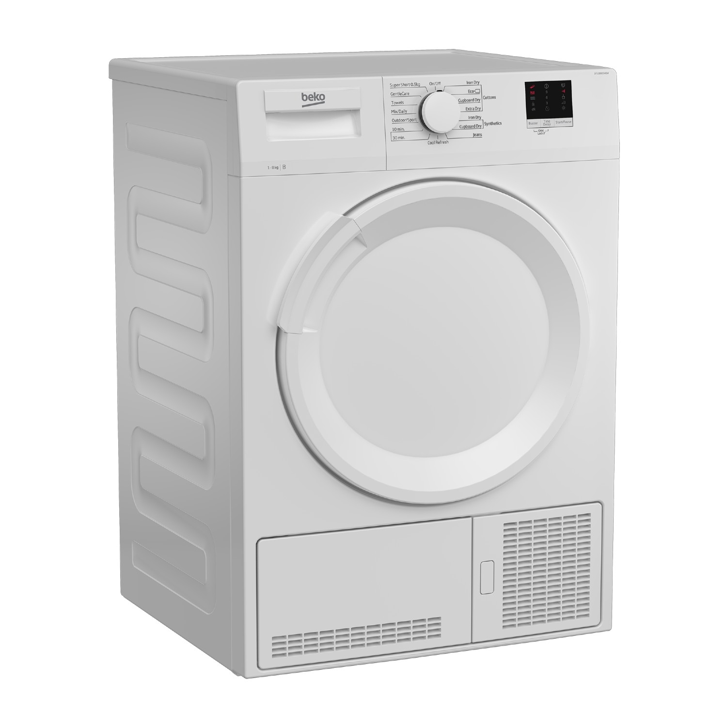 Beko DTLCE80041W 8kg Condenser Tumble Dryer - White - 1