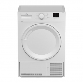 Beko DTLCE80041W 8kg Condenser Tumble Dryer - White - 0