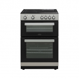 Belling 60cm Double Oven with Ceramic Hob - Silver - AA Rated