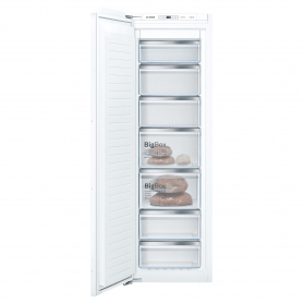Bosch GIN81AEF0G 55.8cm Built In Tall Freezer - White - Frost Free