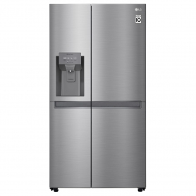 LG GSL480PZXV American Style Fridge Freezer - Shiny Steel