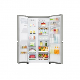 LG ELECTRONICS InstaView Door-in-Door American Style Fridge Freezer - PREMIUM STEEL - A++ Energy Rat - 3
