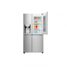 LG ELECTRONICS InstaView Door-in-Door American Style Fridge Freezer - PREMIUM STEEL - A++ Energy Rat - 2