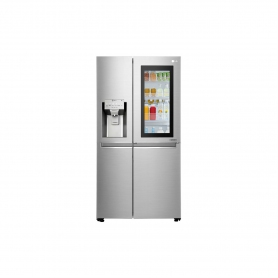LG ELECTRONICS InstaView Door-in-Door™ American Style Fridge Freezer - PREMIUM STEEL - A++ Energy