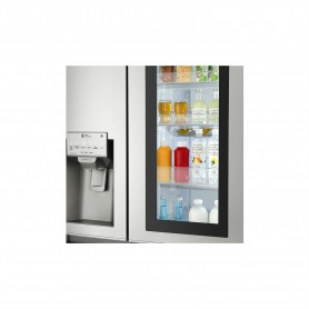 LG ELECTRONICS InstaView Door-in-Door™ American Style Fridge Freezer - PREMIUM STEEL - A++ Energy  - 2