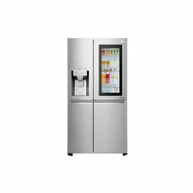 LG ELECTRONICS InstaView Door-in-Door American Style Fridge Freezer - PREMIUM STEEL - A++ Energy Rated
