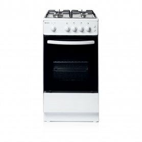 Haden 50cm Single Oven Gas Cooker - White