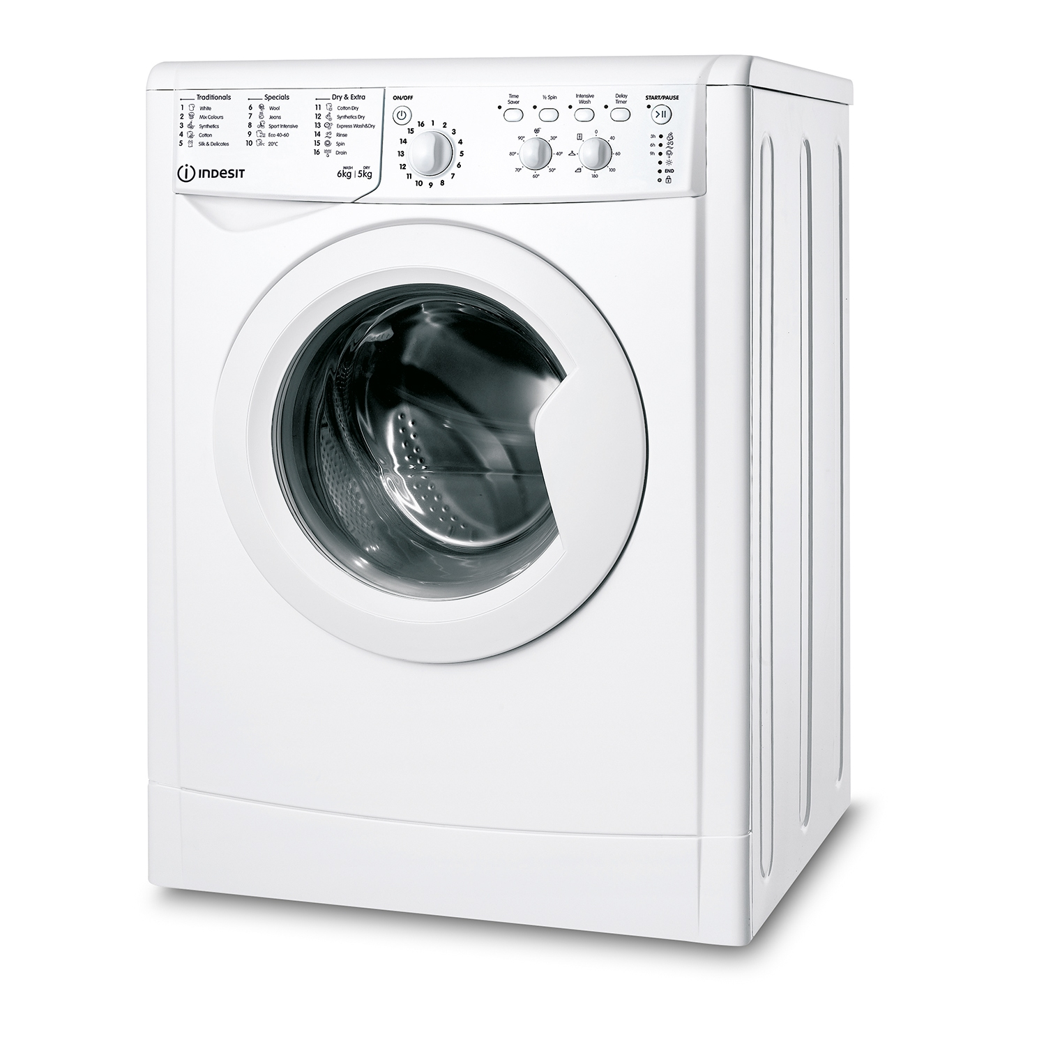 Indesit 6kg/5kg 1200 Spin Washer Dryer - White - B Energy Rated - 0