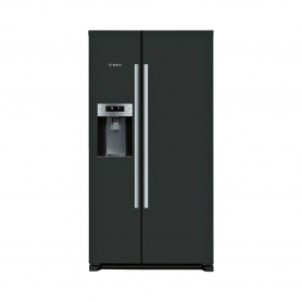 Bosch Ice & Water American Style Fridge Freezer - Black