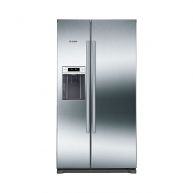 BOSCH Ice & Water American Style Fridge Freezer - Stainless Steel Effect