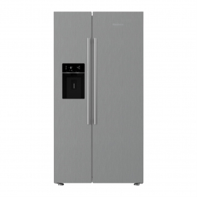 Blomberg Non Plumbed Water & Ice American Fridge Freezer - Brushed Steel