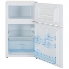 Lec 50cm Under Counter Manual-Defrost Fridge Freezer - White - A+ Rated