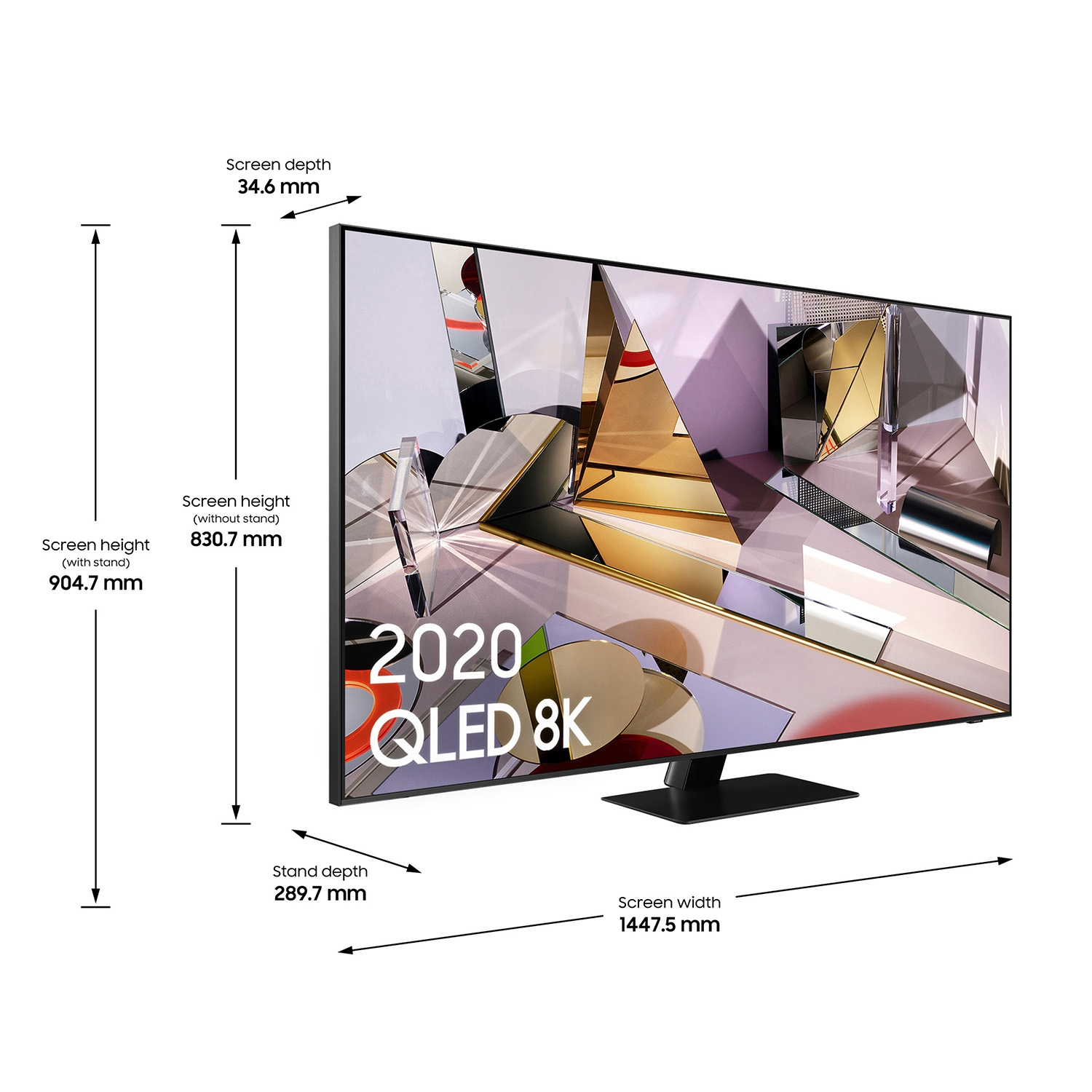 "Samsung 65"" 8K QLED Smart TV - B Energy Rated - 7"