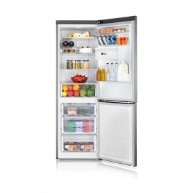 Samsung 60cm Total No Frost Fridge Freezer - Water Dispenser - Silver - 2