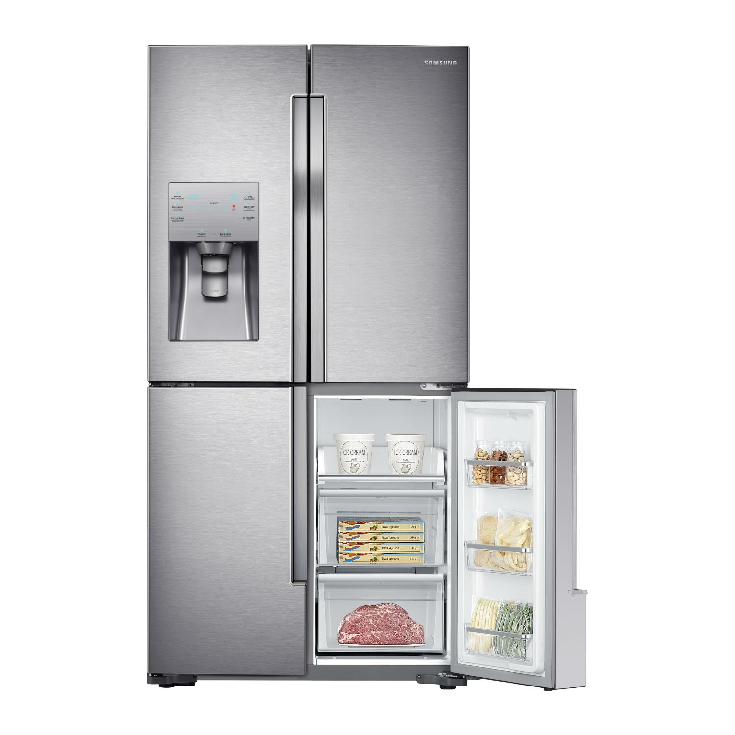 Samsung American Fridge Freezer - Stainless Steel - 7