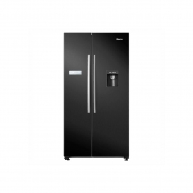 HISENSE American Style Fridge Freezer - Black - A+ Rated