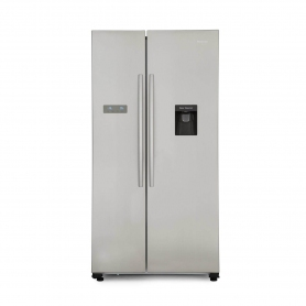 Hisense American Style Fridge Freezer - Stainless Steel