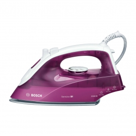 Bosch Steam Iron - White/Deep Berry