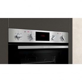 Neff Built In Electric Double Oven - Black & Steel - A Energy Rated - 2