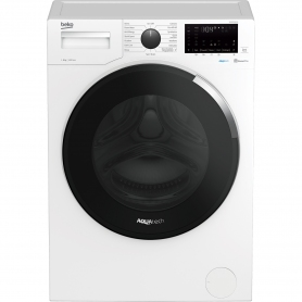 Beko WEC84P64E2W 8kg 1400 Spin Washing Machine with AquaTech - White