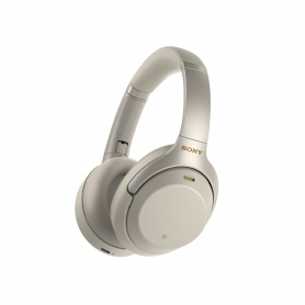 Sony Over Ear Wireless Noise Cancelling Headphones Silver
