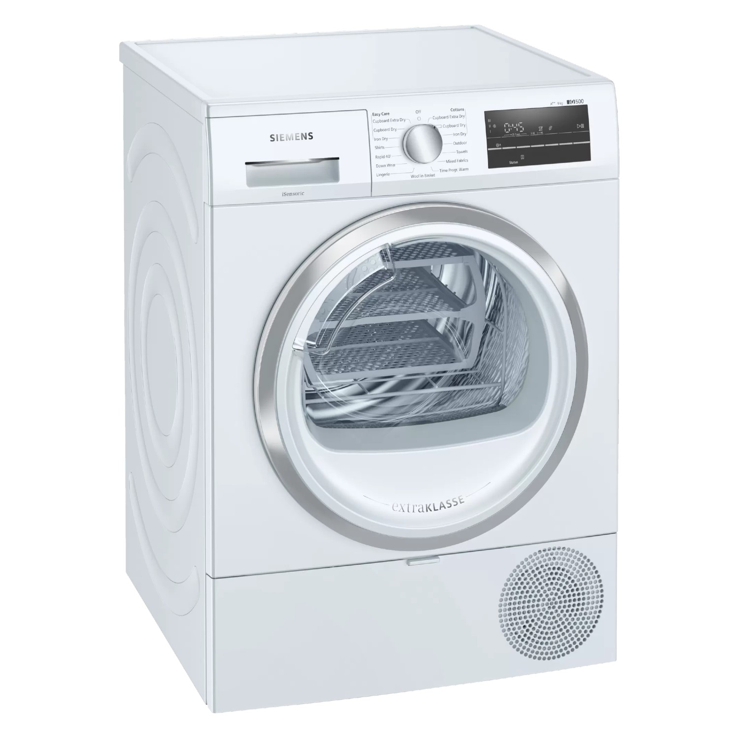 Siemens extraKlasse WT47RT90GB iQ500 9kg Heat Pump Tumble Dryer - White - 0