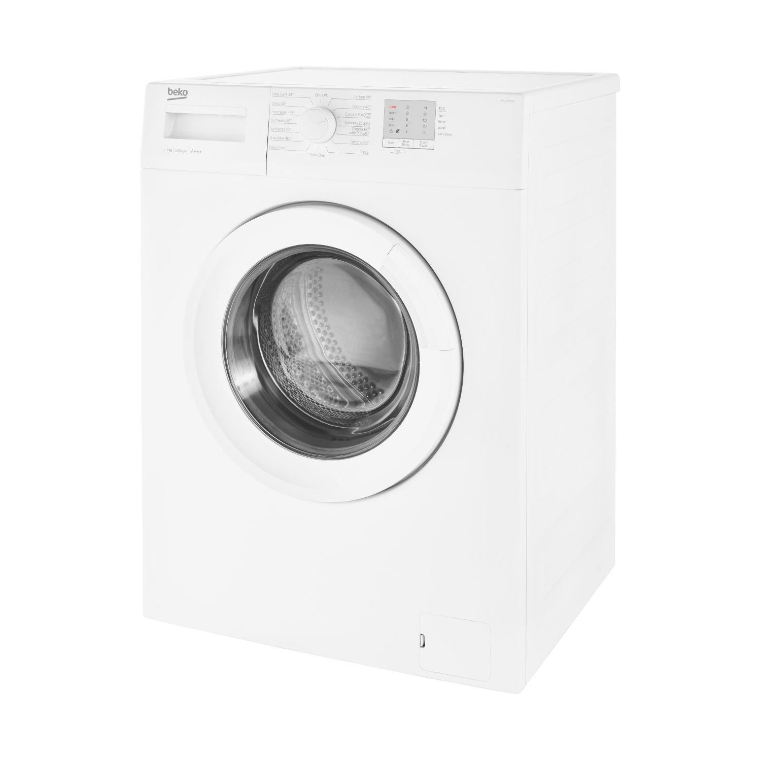Beko 7kg 1200 Washing Machine - White - A+++ Energy Rated - 3