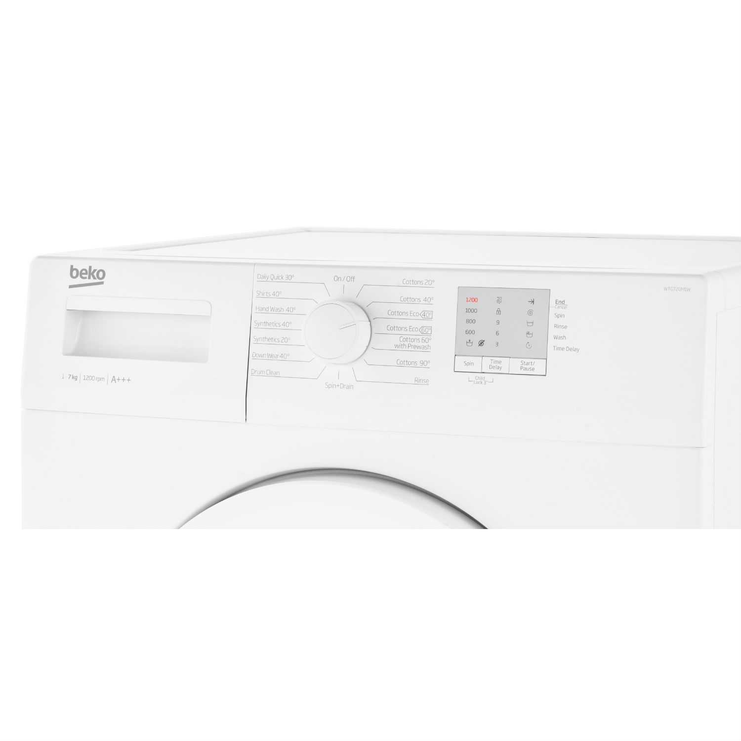 Beko 7kg 1200 Washing Machine - White - A+++ Energy Rated - 1