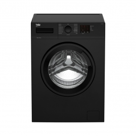 Beko WTK72041B 7kg 1200 Spin Washing Machine with Quick Programme - Black - 0
