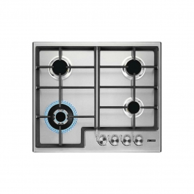 Zanussi Gas Hob with Cast Iron pan supports - Stainless Steel - 0