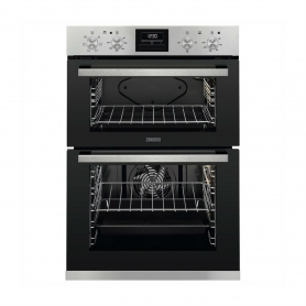 Zanussi Built In Electric Double Oven - Stainless Steel - A Energy Rated