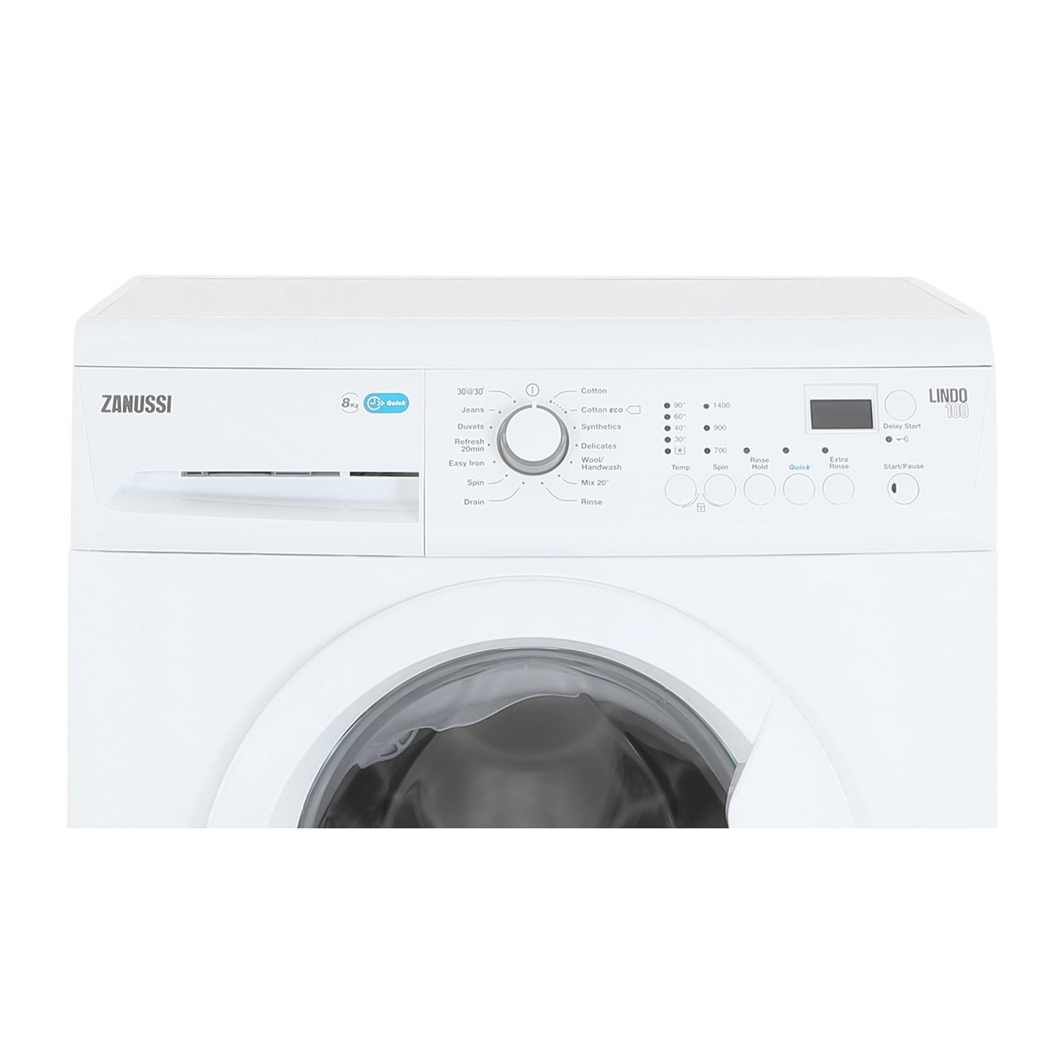Zanussi 8kg 1400 Spin Washing Machine - White - A+++ Rated - 2
