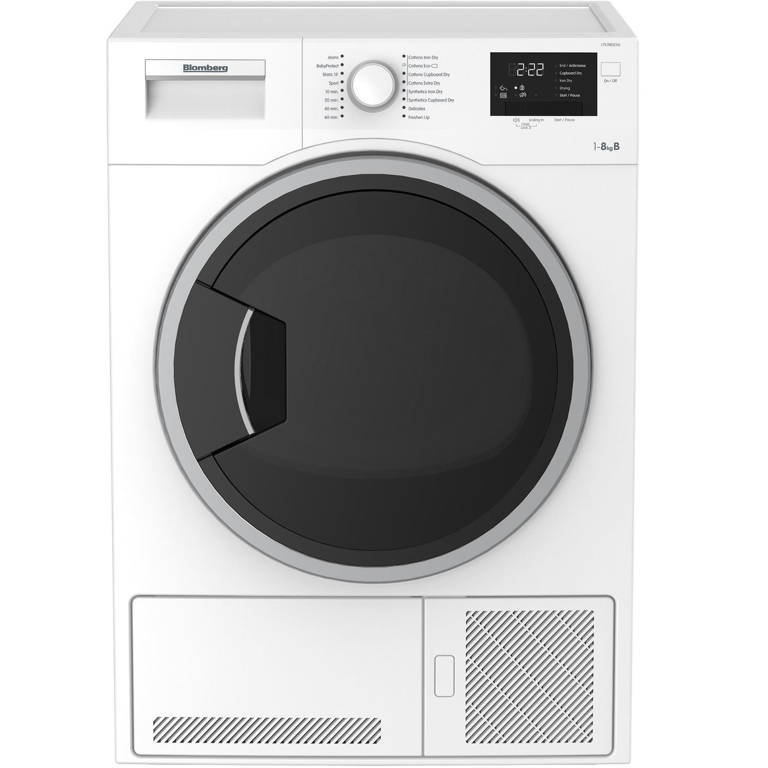 Blomberg 8kg Condenser Tumble Dryer - White - 0