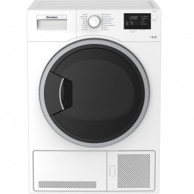 Blomberg LTK28021W 8kg Condenser Tumble Dryer - White - 0