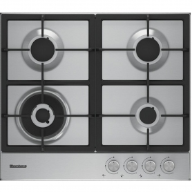 Blomberg 60cm Gas Hob with High Power Wok Burner - Stainless Steel - 5