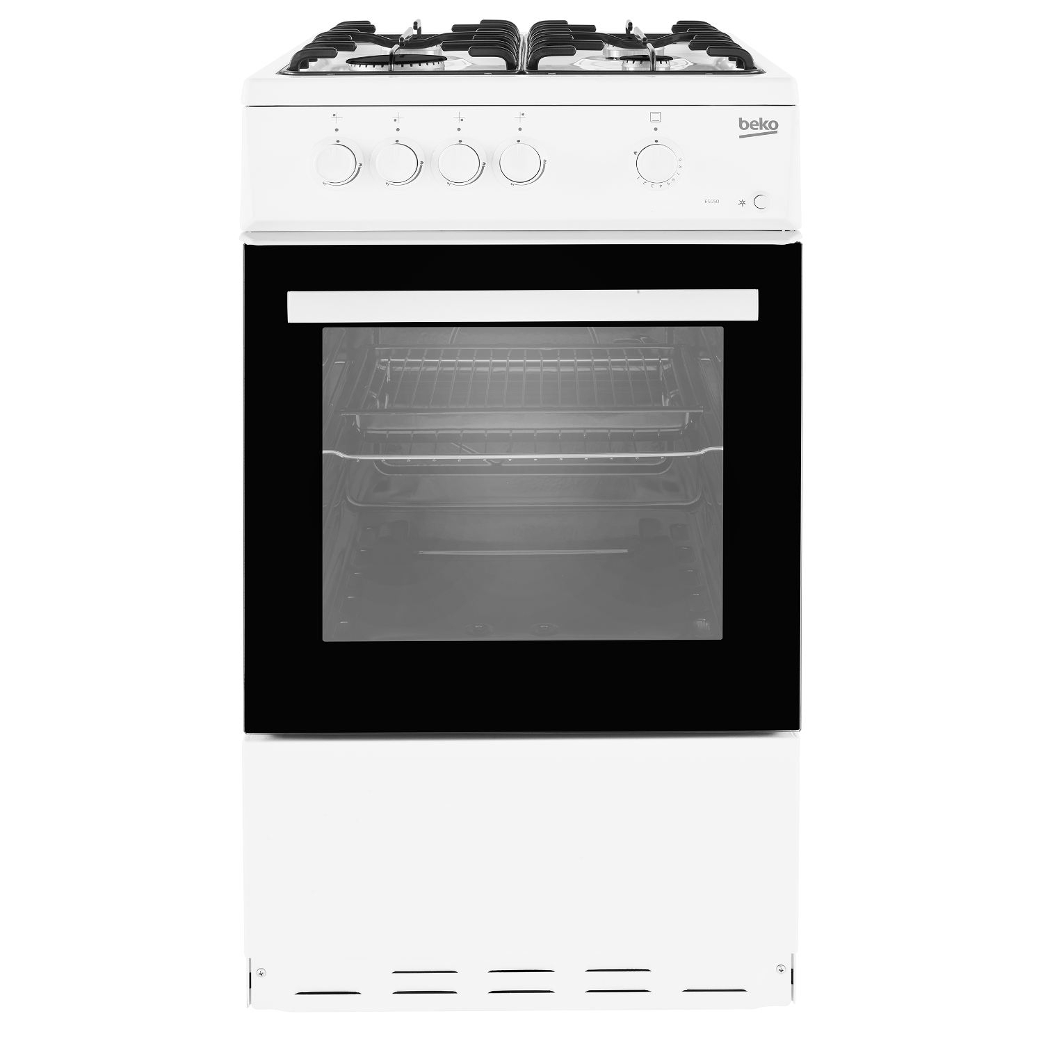 Beko 50cm Single Oven Gas Cooker - White - 3