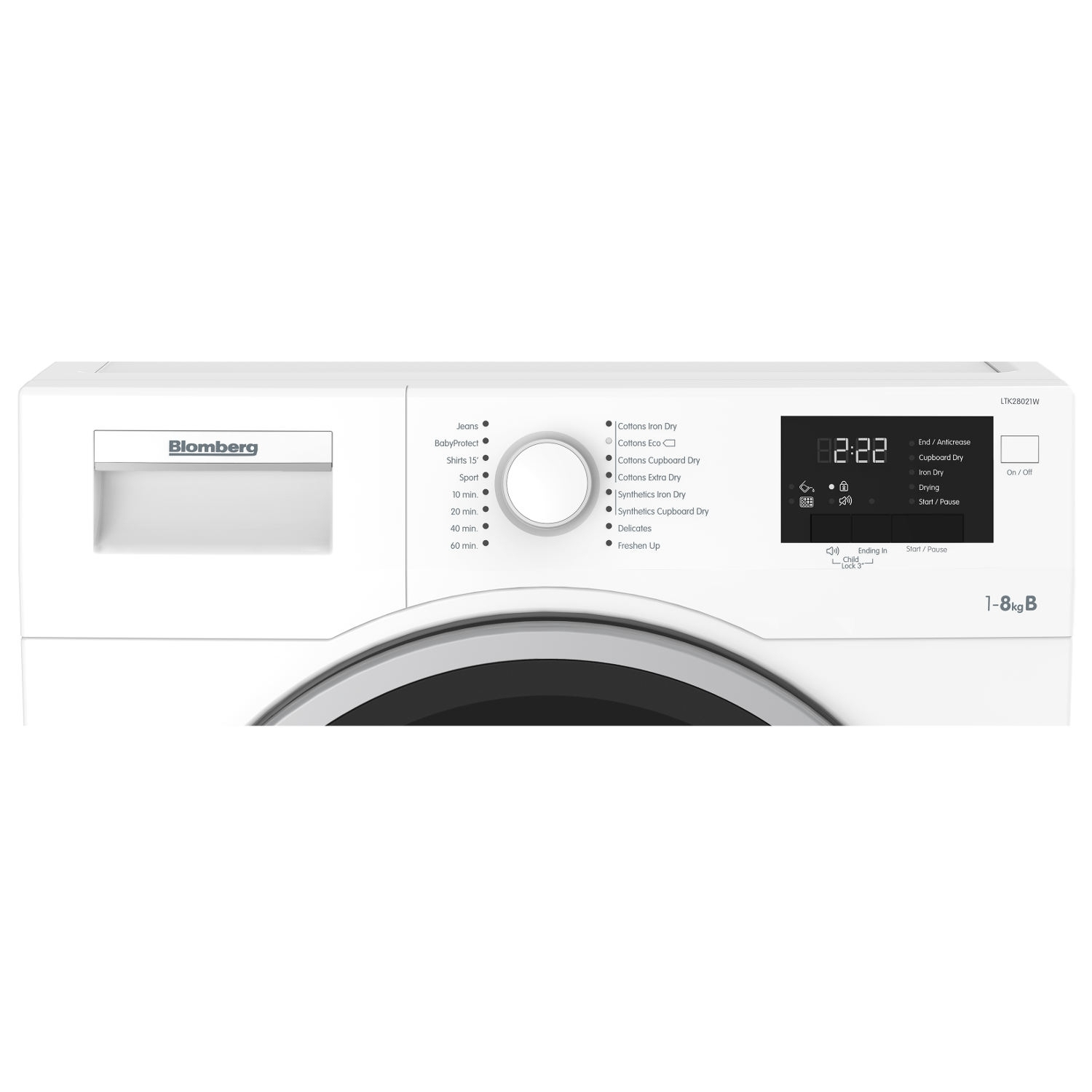 Blomberg 8kg Condenser Tumble Dryer - White - 7