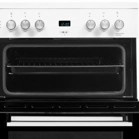 Beko 60cm Double Oven Electric Cooker with Ceramic Hob - White - A/A Rated - 1