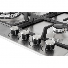Blomberg 60cm Gas Hob with High Power Wok Burner - Stainless Steel - 2