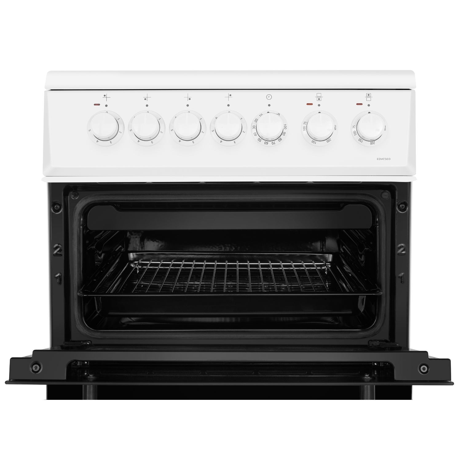 Beko 50cm Double Oven Electric Cooker - White - A/A Rated - 4