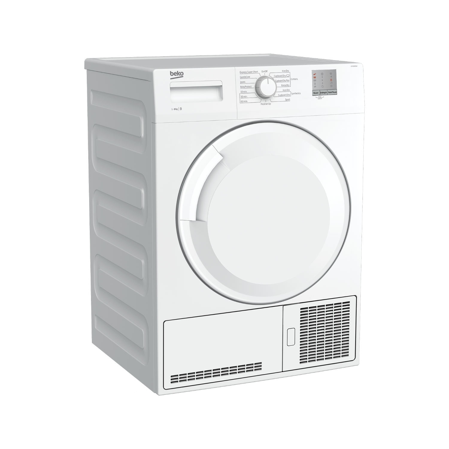 Beko 8kg Condenser Tumble Dryer - White - B Rated - 8